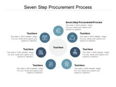 Seven Step Procurement Process Ppt PowerPoint Presentation Infographics Design Ideas