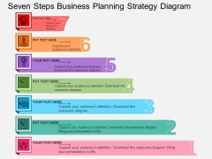 Seven Steps Business Planning Strategy Diagram Powerpoint Template
