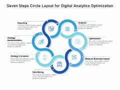 Seven Steps Circle Layout For Digital Analytics Optimization Ppt PowerPoint Presentation Model Structure PDF