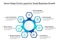 Seven Steps Circle Layout For Small Business Growth Ppt PowerPoint Presentation Inspiration Samples PDF