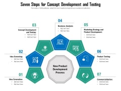Seven Steps For Concept Development And Testing Ppt PowerPoint Presentation Icon Portfolio PDF