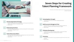 Seven Steps For Creating Talent Planning Framework Ppt Gallery Vector PDF