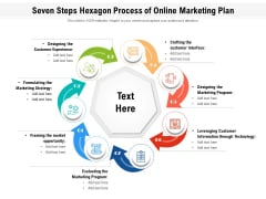 Seven Steps Hexagon Process Of Online Marketing Plan Ppt PowerPoint Presentation File Inspiration PDF