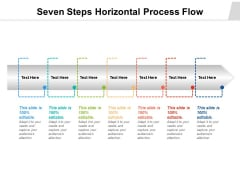Seven Steps Horizontal Process Flow Ppt PowerPoint Presentation Professional Smartart PDF