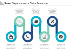 Seven Steps Insurance Claim Procedure Ppt Powerpoint Presentation Icon Information