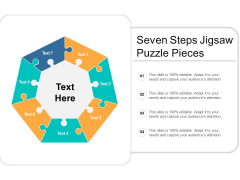 Seven Steps Jigsaw Puzzle Pieces Ppt PowerPoint Presentation Infographics Graphics