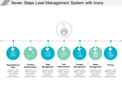 Seven Steps Lead Management System With Icons Ppt PowerPoint Presentation Show Portrait