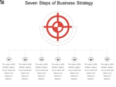 Seven Steps Of Business Strategy Ppt PowerPoint Presentation Summary Outfit PDF