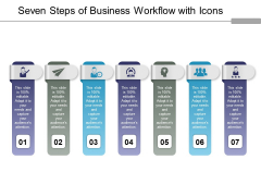 Seven Steps Of Business Workflow With Icons Ppt PowerPoint Presentation Infographic Template Diagrams