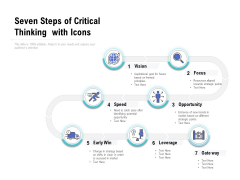 Seven Steps Of Critical Thinking With Icons Ppt PowerPoint Presentation Infographic Template Outfit
