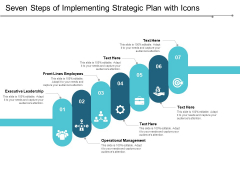 Seven Steps Of Implementing Strategic Plan With Icons Ppt Powerpoint Presentation Inspiration Images