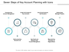 Seven Steps Of Key Account Planning With Icons Ppt PowerPoint Presentation Styles Styles Cpb