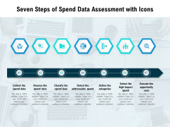 Seven Steps Of Spend Data Assessment With Icons Ppt PowerPoint Presentation Styles Portrait