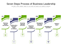 Seven Steps Process Of Business Leadership Ppt PowerPoint Presentation Gallery Deck PDF
