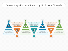 Seven Steps Process Shown By Horizontal Triangle Ppt PowerPoint Presentation Gallery Slides PDF