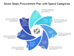 Seven Steps Procurement Plan With Spend Categories Ppt PowerPoint Presentation Icon Outline PDF
