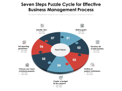 Seven Steps Puzzle Cycle For Effective Business Management Process Ppt PowerPoint Presentation File Rules PDF