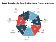 Seven Steps Puzzle Cycle Online Safety Process With Icons Ppt PowerPoint Presentation File Portrait PDF