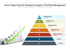 Seven Steps Pyramid Showing Concepts Of Portfolio Management Ppt PowerPoint Presentation Ideas Example PDF