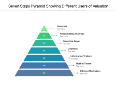 Seven Steps Pyramid Showing Different Users Of Valuation Ppt PowerPoint Presentation Portfolio Design Inspiration PDF