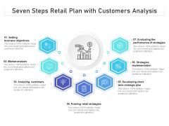 Seven Steps Retail Plan With Customers Analysis Ppt PowerPoint Presentation File Smartart PDF