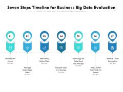 Seven Steps Timeline For Business Big Data Evaluation Ppt PowerPoint Presentation Gallery Shapes PDF