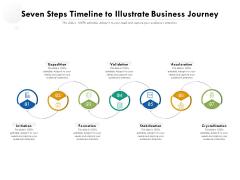 Seven Steps Timeline To Illustrate Business Journey Ppt PowerPoint Presentation Gallery Design Ideas PDF