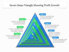 Seven Steps Triangle Showing Profit Growth Ppt PowerPoint Presentation File Maker PDF