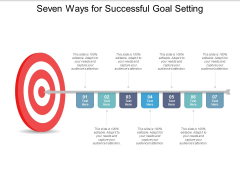 Seven Ways For Successful Goal Setting Ppt PowerPoint Presentation Inspiration Grid