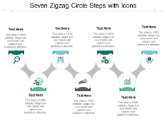 Seven Zigzag Circle Steps With Icons Ppt PowerPoint Presentation Portfolio Model