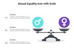 Sexual Equality Icon With Scale Ppt PowerPoint Presentation Slides Diagrams PDF