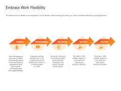 Shared Values In An Organization Embrace Work Flexibility Ppt Icon Inspiration PDF