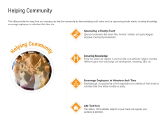 Shared Values In An Organization Helping Community Ppt PowerPoint Presentation Portfolio Topics PDF