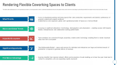 Shared Workspace Rendering Flexible Coworking Spaces To Clients Themes PDF