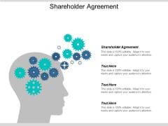 Shareholder Agreement Ppt PowerPoint Presentation Show Grid Cpb