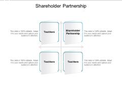 Shareholder Partnership Ppt PowerPoint Presentation Outline Inspiration Cpb