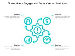 Shareholders Engagement Factors Vector Illustration Ppt PowerPoint Presentation Outline Layout PDF