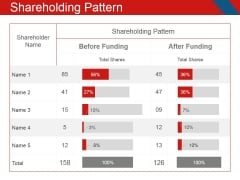 Shareholding Pattern Ppt PowerPoint Presentation Model Microsoft