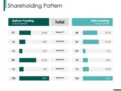 Shareholding Pattern Ppt PowerPoint Presentation Slides Model