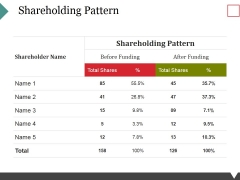 Shareholding Pattern Template 1 Ppt PowerPoint Presentation Professional Designs