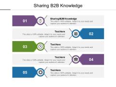 Sharing B2B Knowledge Ppt PowerPoint Presentation Slides Brochure Cpb