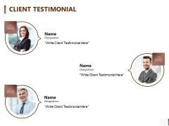 Shipment Proposal For Corporate Occasion Client Testimonial Pictures PDF