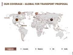Shipment Proposal For Corporate Occasion Our Coverage Global For Transport Proposal Rules PDF