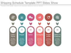Shipping Schedule Template Ppt Slides Show