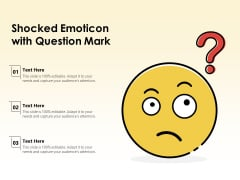 Shocked Emoticon With Question Mark Ppt PowerPoint Presentation File Styles PDF