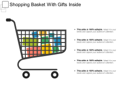 Shopping Basket With Gifts Inside Ppt PowerPoint Presentation Slides Microsoft