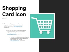Shopping Card Icon Ppt PowerPoint Presentation Outline Picture