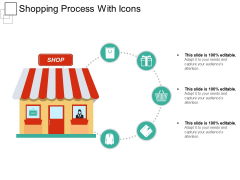 Shopping Process With Icons Ppt PowerPoint Presentation Outline Demonstration