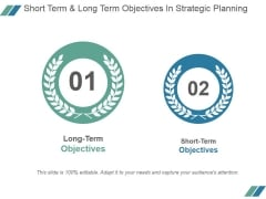 Short Term And Long Term Objectives In Strategic Planning Ppt PowerPoint Presentation Layout