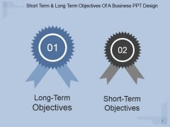 Short Term And Long Term Objectives Of A Business Ppt PowerPoint Presentation Show